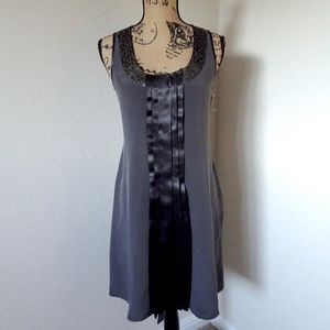 Ted Baker Gray Silk Formal Dress W/ Sequins Size 1